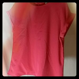 Pink blouse with cutout design